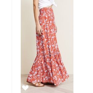 Free People Tiered Smocked Maxi Skirt